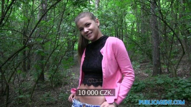 Порно видео Отшпехал 18-летнюю студентку колледжа в лесу, смотреть онлайн на Пердосе.